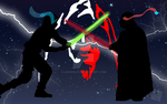 Star wars - father vs son by loiswolf