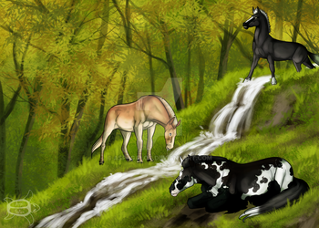 Harmony prompt - Waterfall by Aspi-Galou