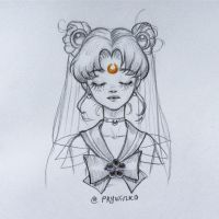 Doodle#3 Sailor Moon by Prywinko