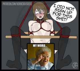 Rose's Shibari Stuffing (Part 3) CENSORED SCAT by VoraciousRose