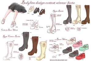 Bodyline contest winners:boots by Demon-Emily