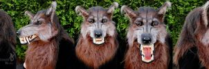 'The Howling' style werewolf mask commission by Farumir