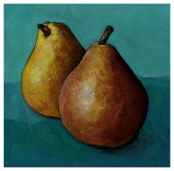 Pears Miniature Painting by LevonHackensaw