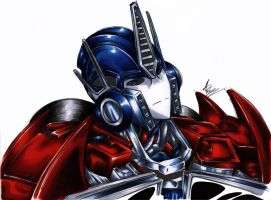 Optimus Prime by Hanaby