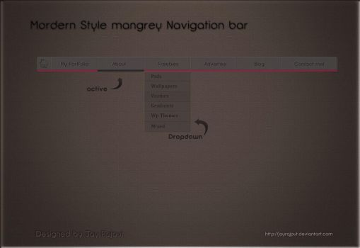 Modern Mangrey Navigation bar by jayrajput