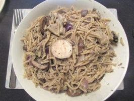 Mixed mushroom pasta by Sia-the-Mawile