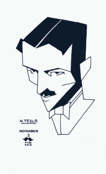 Movember#3 - N. Tesla by croovman