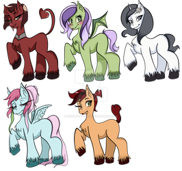 {OPEN} Pony Adoptables #1 by xXimmaeatjooXx