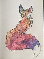 Abstract Fox by erikaphernelia