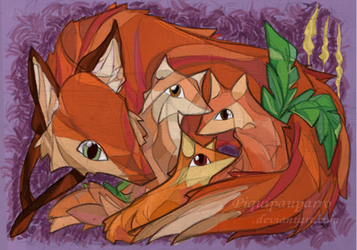 All foxes by Piquipauparro