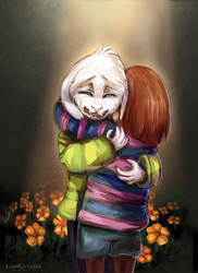 =Undertale= Don't want to let go... by LeoKatana