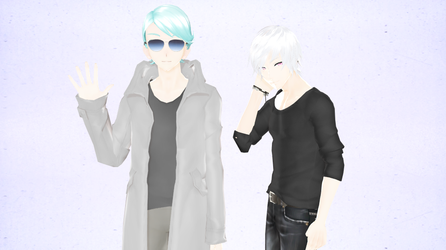 [MMD] Mystic Messenger V and Zen DL [DOWN] by DissidiaLovingTear