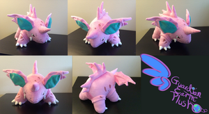 Nidorino Pokemon Plush! 9'' tall 14'' long! by GuardianEarthPlush
