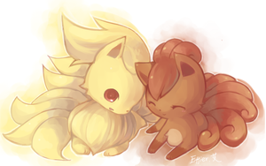 ninetales and vulpix