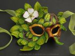 Apple Blossom Leather Mask by windfalcon