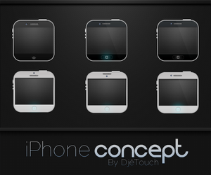 iPhone 4, 4s and 5 concept by DjeTouch59