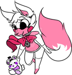 Funtime Foxy with her plushie