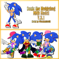 MMD Sonic the Hedgehog model download [V.3.1] by Pikadude31451