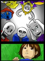 Undertale True Pacifist End by RinSarahMoin29