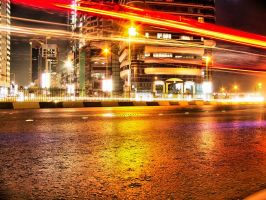 HDR Blurred Light Street View by omartheradwan