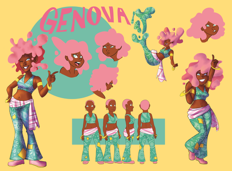Genova- Character Design Final by TheBread