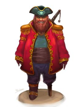Captain Onefoot by Clockweiz