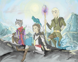 Travelers of Skyrim by NightLite27