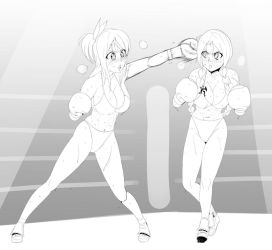[Commission] Lucy vs Flare by pugilismx