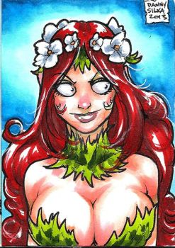 Busty Poison Ivy personal sketch card ( sold) by dsilvabarred