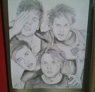 5 Seconds of Summer (Realistic drawing) by Cliffocondabitch