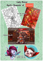 Patreon Summary Rewards April18 by LadyRosse