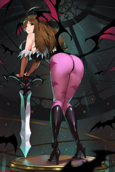 Wiz x Morrigan(Darkstalkers) by sendrawz