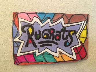 Rugrats Logo Art Colorful Design Drawing  by NWeezyBlueStars23