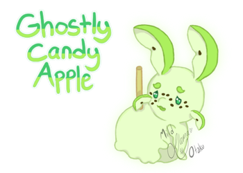 Halloween Advent Candy Week:  Ghostly Candy Apple by mild-otaku