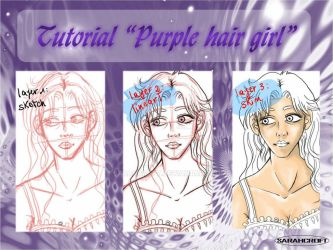 Tutorial Purple hair girl 1_2013 by SARAHCROFT