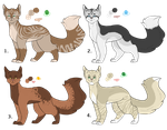 Adoptables batch 1 [2/4 OPEN] by MudleafsAdopts