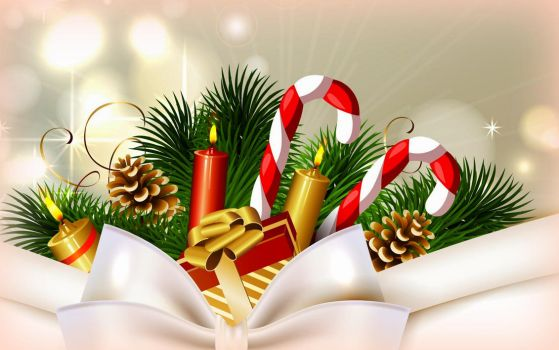 Christmas Candy Canes and Gifts by PreciousBliss
