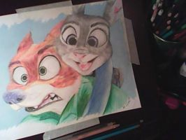 Zootopia Nick and Judy by Artist3r