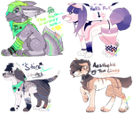 Aesthetic Dog Adopts : AUCTION : OPEN : by MonsterMeds