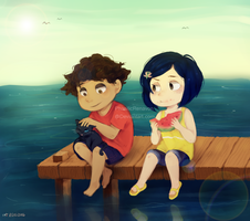 Summer with Coraline by Rabbitorena