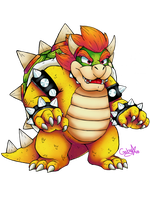 King Bowser by Marceline-Fox