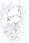 Weekly Sketch: Classic Super Sonic by realshow