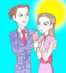 Phoenix Wright And Iris's Romantic Summery Day by Nightwishrockz