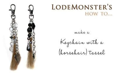 Keychain with horsehair tassel (video-tutorial) by WhiteFacedPony