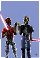 Master And Apprentice:Darth Maul and Savage Opress by Giorgia99