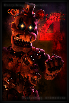 FNAF 4 Nootmare Freddy poster by EverythingAnimations