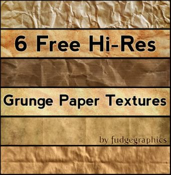Grunge Paper Textures by fudgegraphics