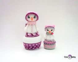 Winter and Mini Winter by Crocsbetty