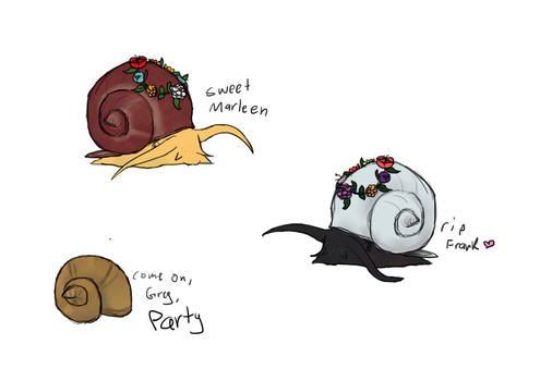 Snails by Bloodshadewolves