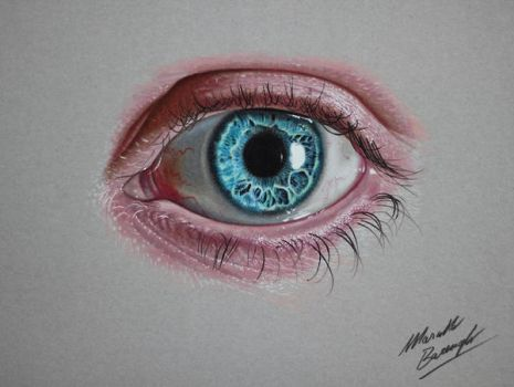 Blue eye DRAWING by marcellobarenghi
